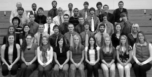 Photo by Kate Knippling. 2010-2011 DSU Indoor and Outdoor Men's and Woman's Track and Field Team.
