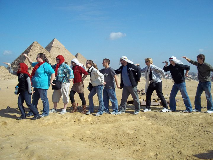 DSU's Marketing Tour Walks Like Egyptians