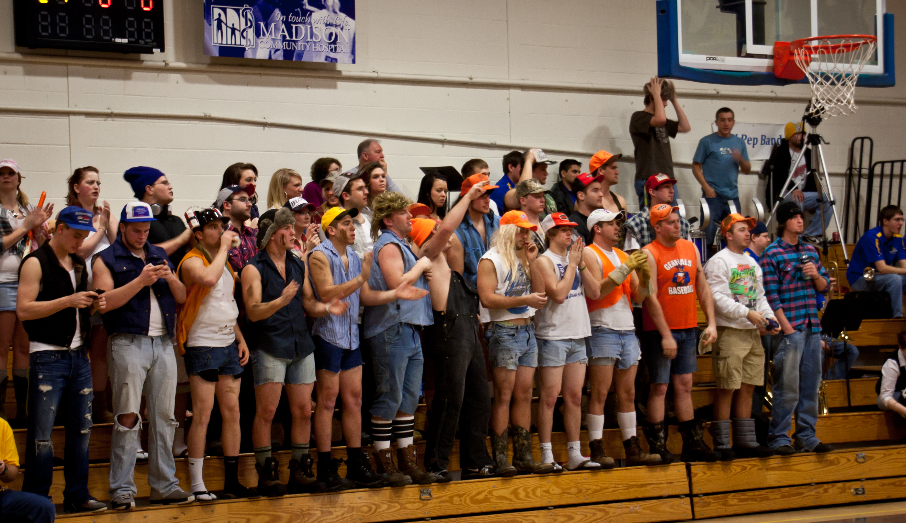 Trojans vs Comets Basketball Homegame: White Trash Wednesday!