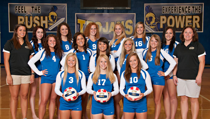 Trojan Volleyball Team Finishes Season with 12-20 Record