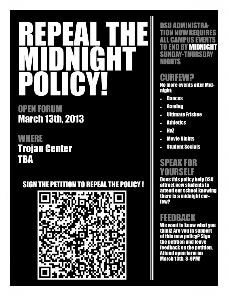 Reverse Midnight Policy for Campus Events