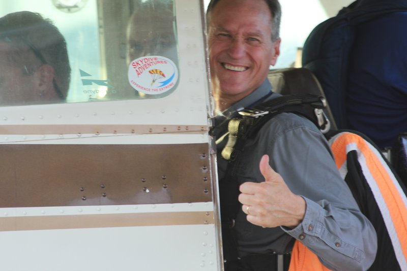 DSU English Professors Skydive with Daugaard and Mork