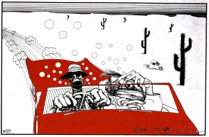 Artwork by Ralph Steadman