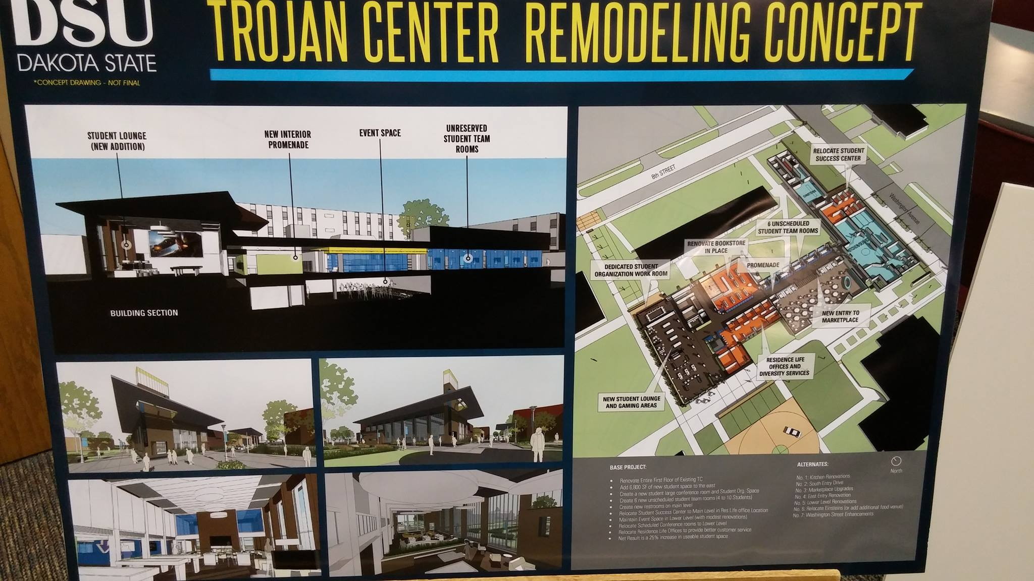 Trojan Center Remodeling Concept revealed to public