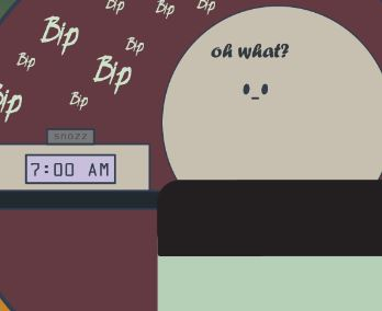 Person waking up