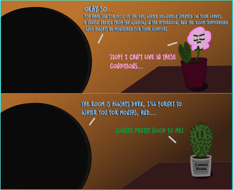 person talking to plants