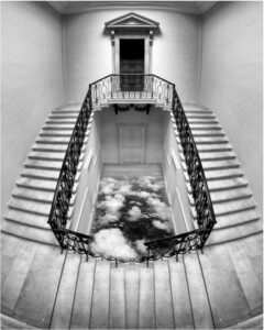 surreal photo of staircase