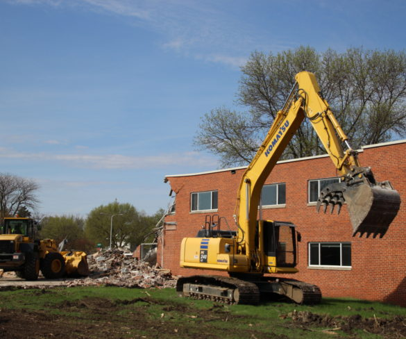 Demolition of Lowry Hall Begins